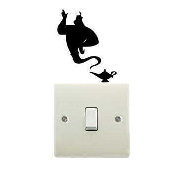 Aladdin Genie Lamp Light Switch Vinyl Decal Bedroom Wall Sticker 4WS0172 image