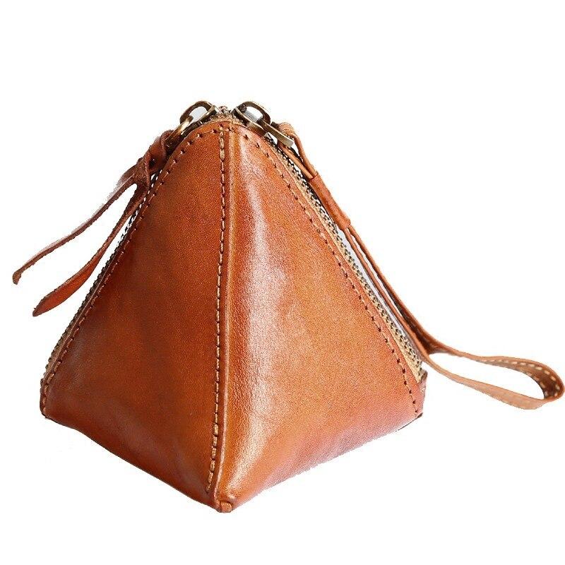 Новинка 2018, треугольные кошельки из натуральной кожи, женские кошельки, маленький кошелек, сумочка ручной работы, милый мини браслет, сумочка с карманом