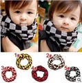 2013 Classical Flavor Plaid Patchwork All-matching Scarf for Boy/Girl Casual Style Knitted Children Wraps Good Neck Accessory