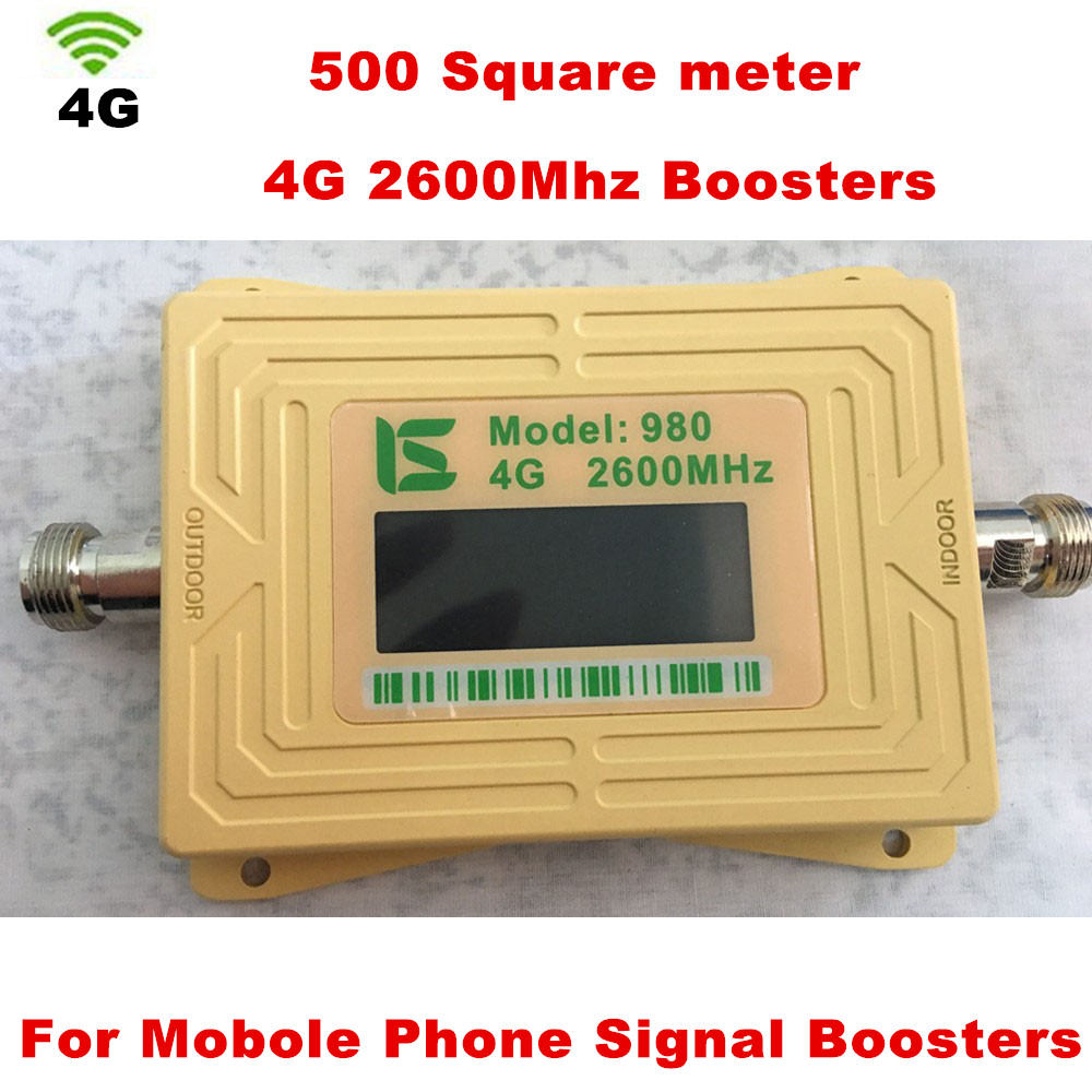 4G LTE Ampli Repeater LCD 4G 2600MHz Signal Booster 70dBi Gain 2600 4G LTE Amplifier Mobile Phone Signal Repeater