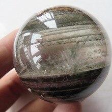 Природный прозрачный кварц радуги круглые кристаллы Orb Исцеление+ зеленый-Phantom 92g