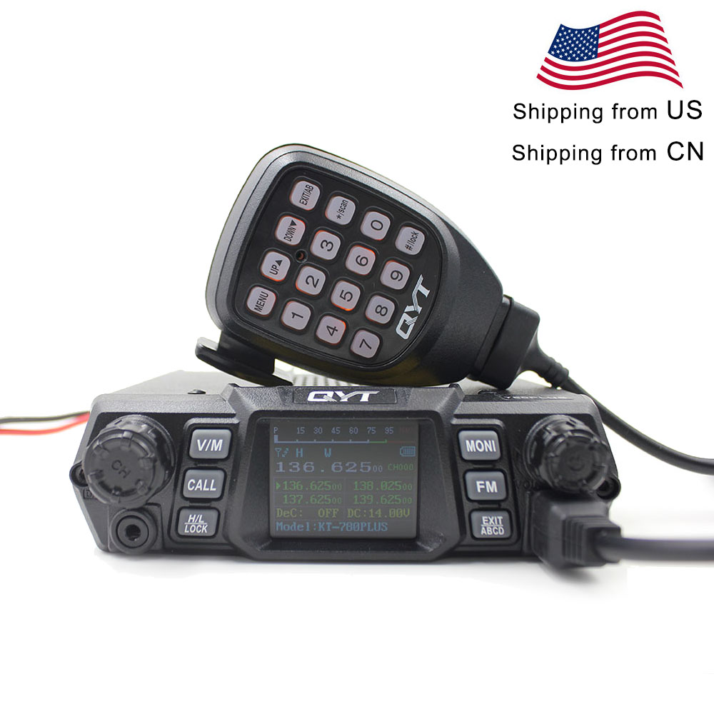 QYT Mobile Radio KT-780PLUS VHF 136-174MHz Or UHF 400-480MHz 100W /75W Walkie Talkie KT780PLUS Transceiver
