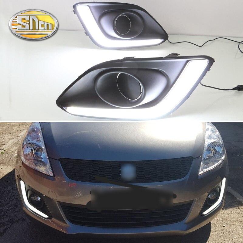 SNCN 2PCS LED Daytime Running Light For Suzuki Swift 2014 2015 2016 Car Accessories Waterproof ABS