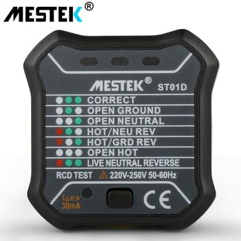MESTEK ST01 digital voltmeter socket tester charger doctor detector tester 220V~250V with RCD GFCI test