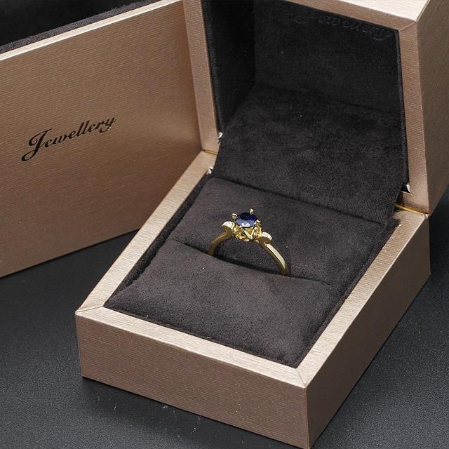 0.5CT Sapphire 14K 585 Yellow Gold Ring