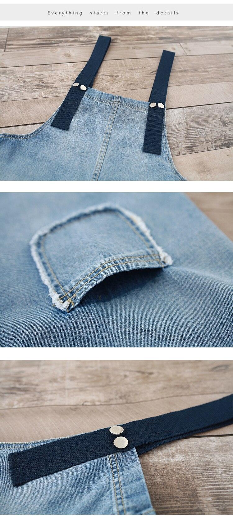 2018 large size suspenders loose literary bib pants nine points wide leg jumpsuit (11)