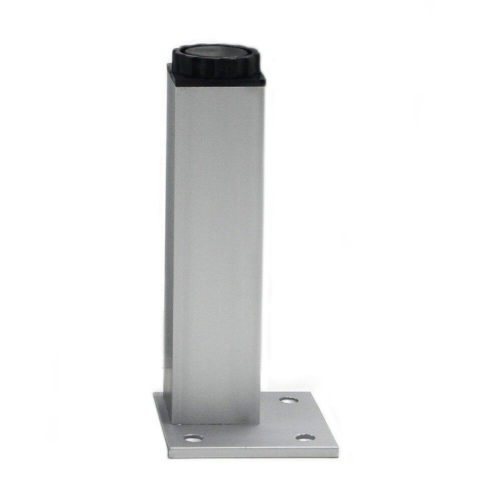 4pcs 18cm Furniture Legs Cabinet Feet Aluminum Metal Table Adjustable Square Base With Screws China