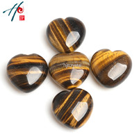5pcs 4cm Natural Crystal Craft Christmas Birthday Valentine S Gift Tiger Eye Heart Home Decoration Accessories