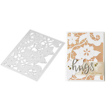 Beautiful Flower Frame Metal Cutting Dies for Scrapbooking DIY Album Embossing Folder Paper Cards Maker Template Decor Stencils