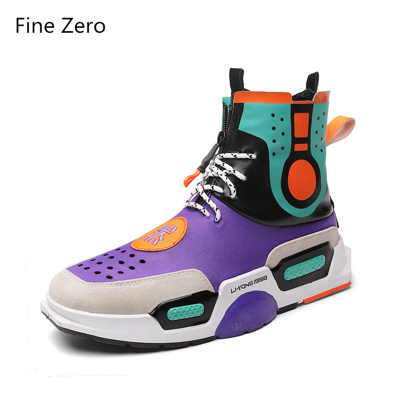 2018 lace up super cool Hip hop high top sneakers Spring Autumn Comfortable Breathable casual Street dance low man Flat shoes gran epos 2017 new mens casual shoes man flats breathable fashion low high top shoes men hip hop dance shoes for male zapato