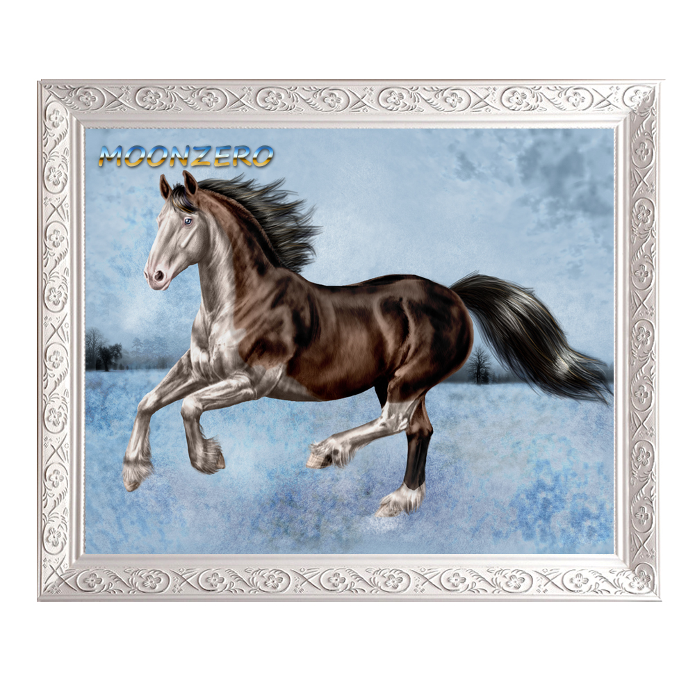 A Running Horse DIY 5D Diamond Painting Cross Stitch Square Stone Needlework Diy Diamond Embroidery Gift Home Decoration