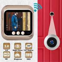 LCD TFT Wireless Doorbell Smart Household Door Viewers Anti burglary Visual Doorbell Viewer Door Eye Digital Home Security