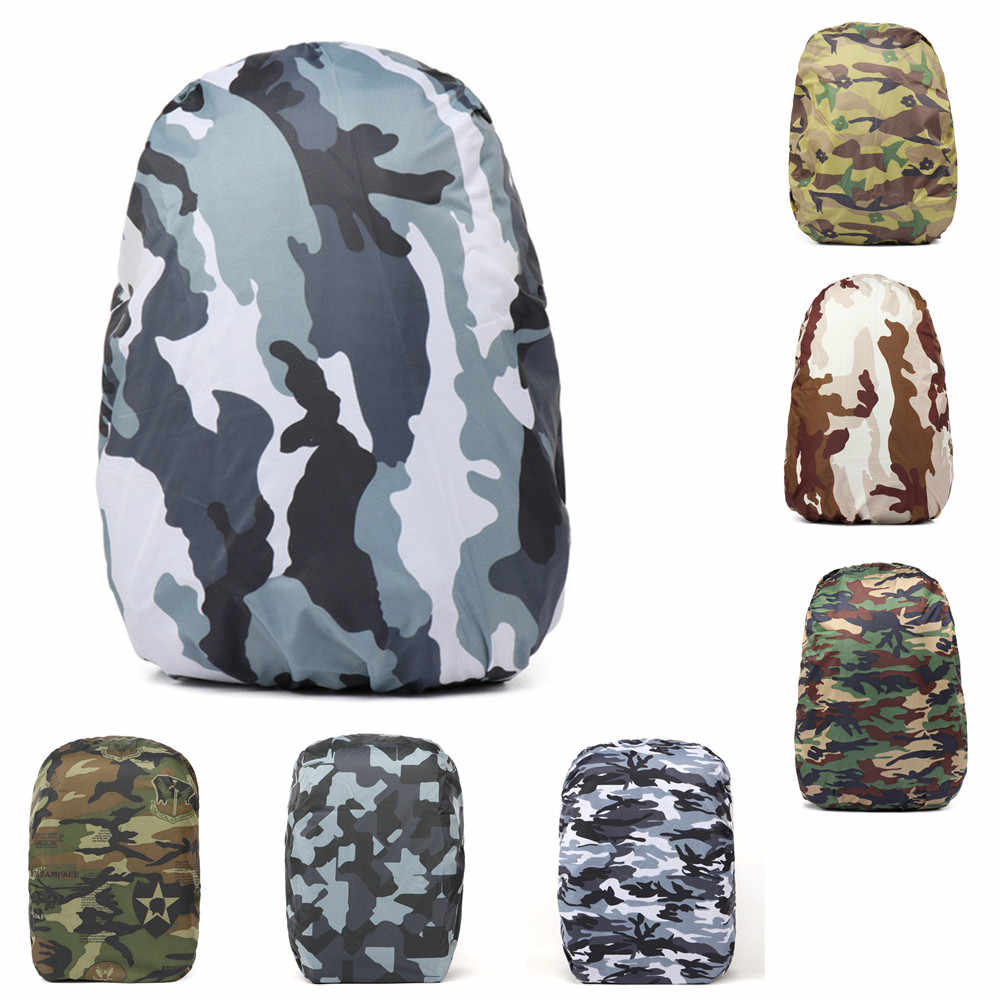 d9563b2d42 30-40L Portable Outdoor Hiking Nylon Dustproof Camouflage Waterproof  Backpack Raincoat Fishing Hunting Backpack Cover