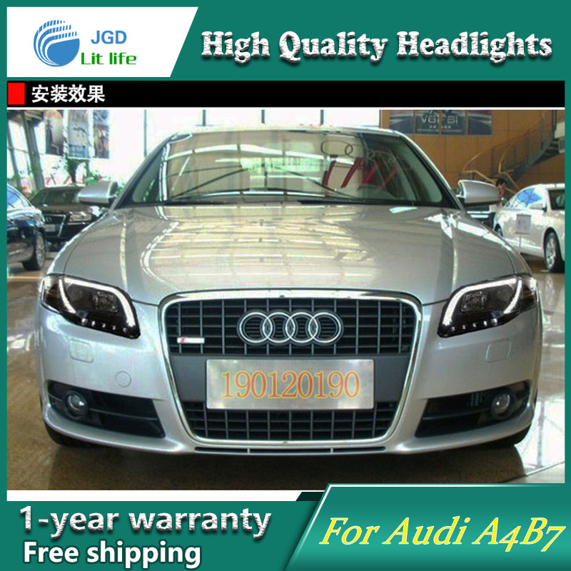 JGD Brand New Styling for Audi A4 B7 LED Headlight 2005-2008 Headlight Bi-Xenon Head Lamp LED DRL Car Lights jgd brand new styling for audi a3 led headlight 2008 2012 headlight bi xenon head lamp led drl car lights