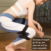 Soporte de articulación potente fuerza de resorte refuerzo de rodilla apoyo rodilleras transpirables antideslizantes