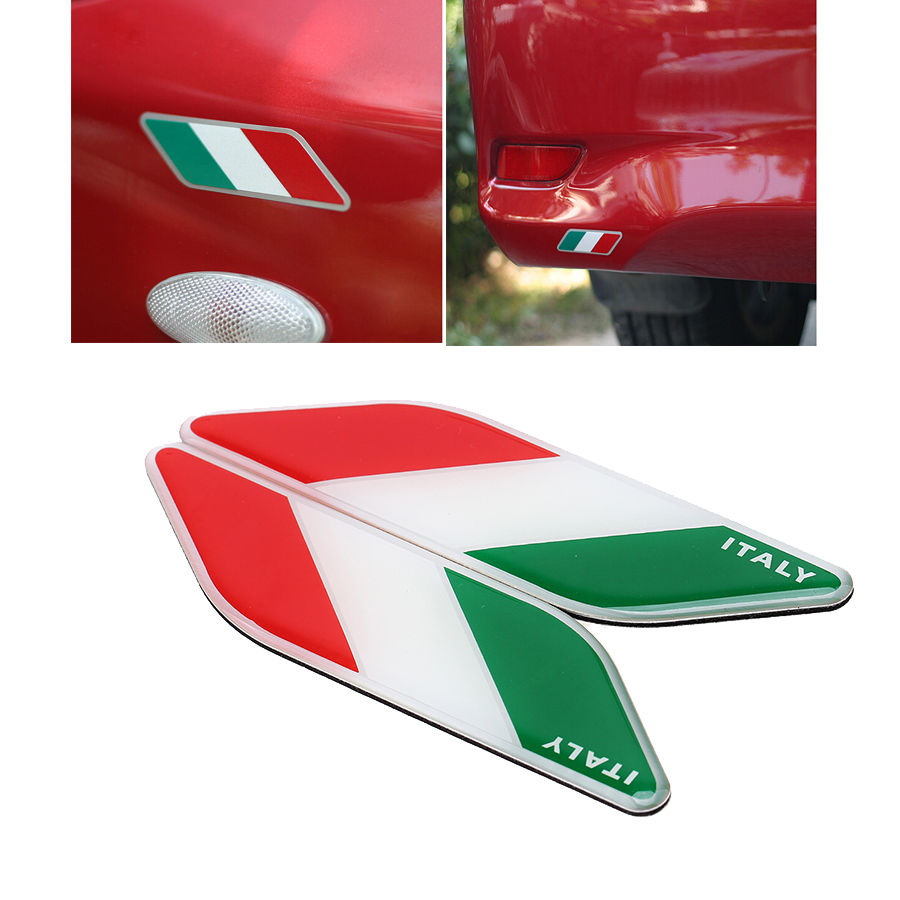 Styles Car Body Italy French German UK USA Flag Logo Emblem - Motorcycle custom stickers and decals uk