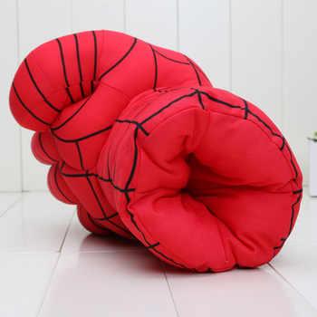 "Incredible Huge Alliance Hulk gloves Smash Hands +New Cosplay Spider Man Soft Plush Glove approx 10\"" 26cm"