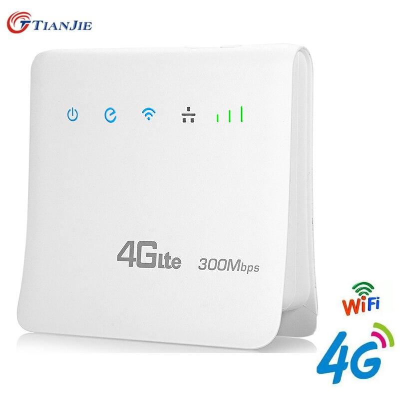 Routeur Wifi 4G LTE CPE FDD TDD haut débit déverrouiller la passerelle sans fil Dongle sans fil avec Port LAN Cat6 300 Mbps