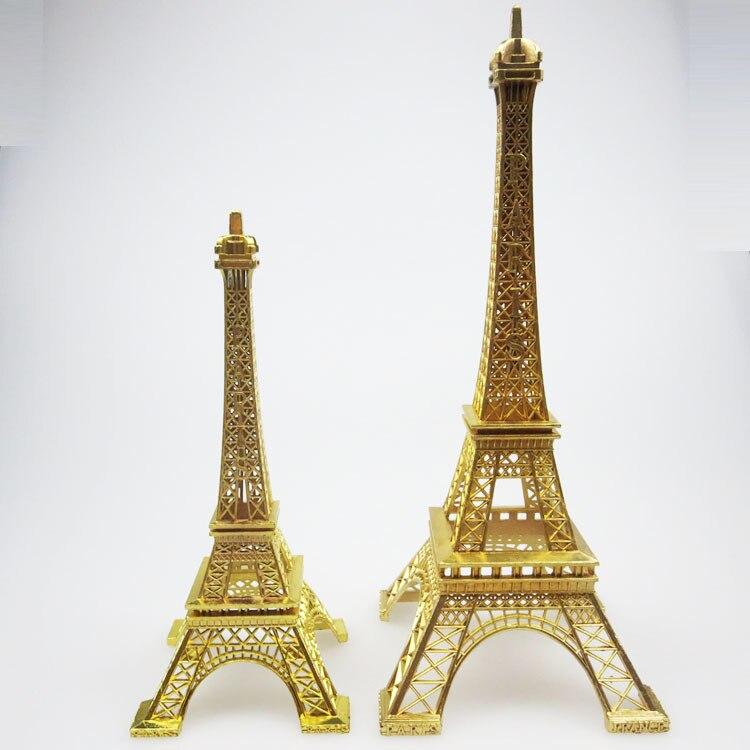 Эйфелева башня золотого цвета, домашний декор, металлическое ремесло, ретро, античная бронза, модель Эйфелевой башни, украшение для дома, ба...