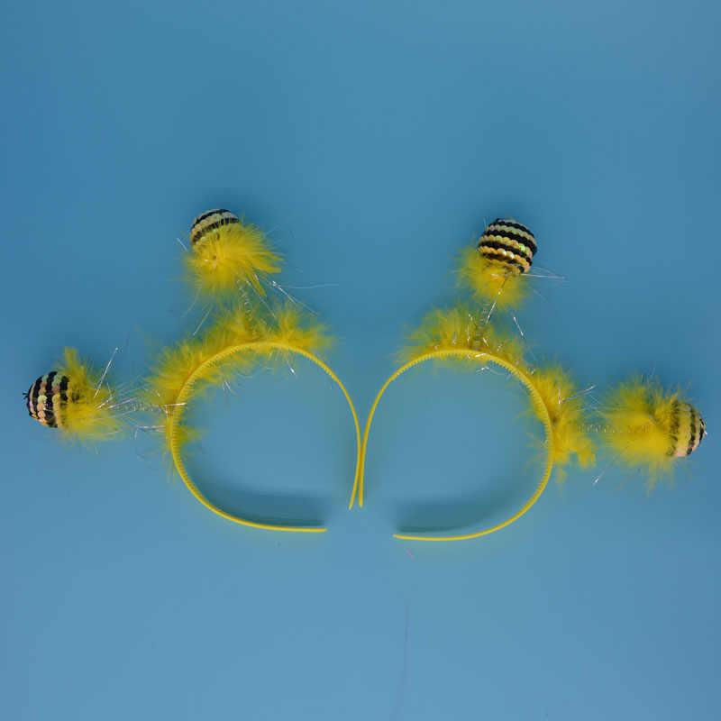 Забавная повязка на голову пчелы муравья с повязкой на голову для инопланетянина детское нарядное платье на Хэллоуин
