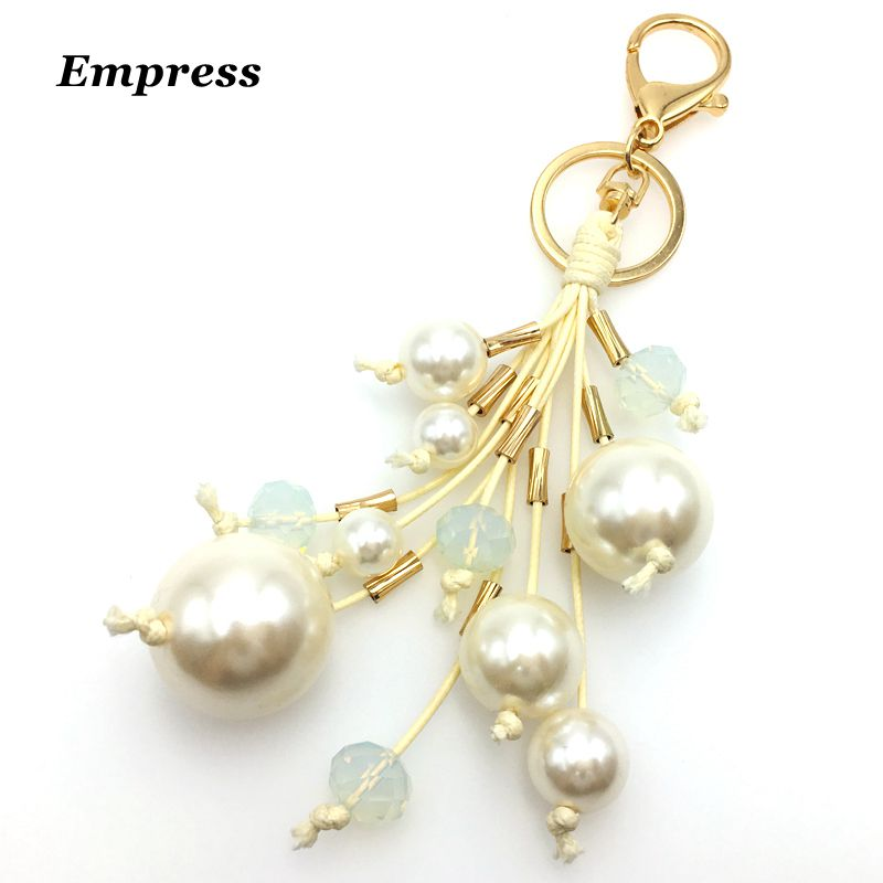 EMPRESS Pearl crystal with a key chain womans handbag car key chain China registered small bag mail YSK005