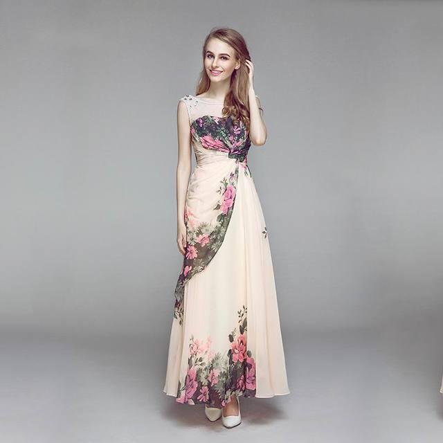 A Line sisters spring summer dress long design slim plus size formal ...