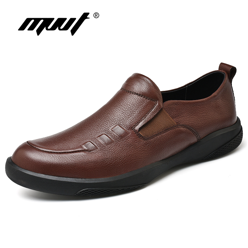 Fashion Luxury Genuine Leather Shoes Men Flats Soothing Breathable Men Loafers Soft Leather Casual Shoes Men Driving Shoes