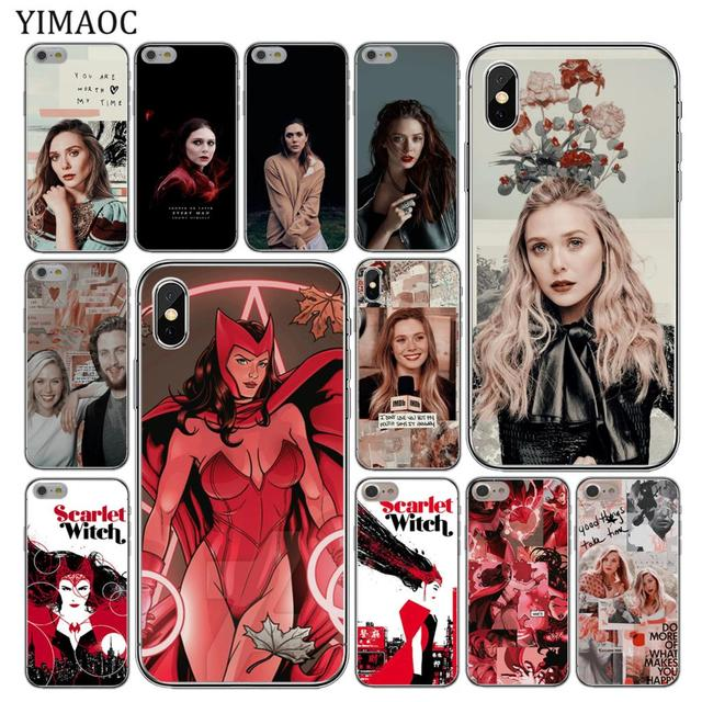 buy popular 5c019 de255 US $1.99 22% OFF|YIMAOC Elizabeth Olsen Scarlet Witch Marvel Soft Silicone  Phone Case for iPhone XS Max XR X 6 6S 7 8 Plus 5 5S SE 10 TPU Cover-in ...