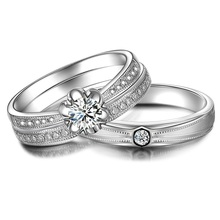 0.20ct Diamond Wedding Couple Set Rings 18K White Gold Handmade Luxury Engagement Jewelry Wedding Band Free DHL Ship