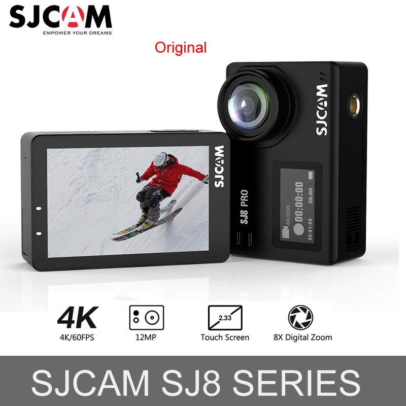 Original SJCAM SJ8 Pro 4 K 60fps Ambarella caméra d'action WIFI télécommande aller étanche pro sport caméra Mini extérieure DV carte SD