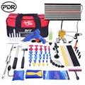 PDR автомобильный набор инструментов для ремонта вмятин, ремонт вмятин, съемник, обратный молоток, светодиодный фонарь, доска, насос, клин, ...