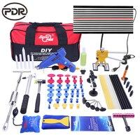 PDR Paintless Car Dent Removal Tools Set Repair Dent Puller Slider Hammer LED Lamp Board Pump Wedge Paintless Auto Repair Tool