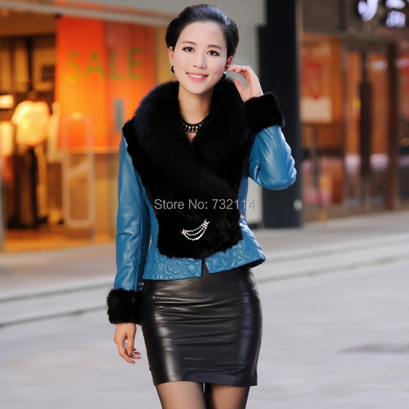 Online Shop Brand Leather Pencil Skirt Women Sexy Red Shiny ...