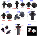 100Pcs Universal Auto Fastener Car Door bumper cover automotive screw fastener plastic car fastener clip rivet desk fasteners