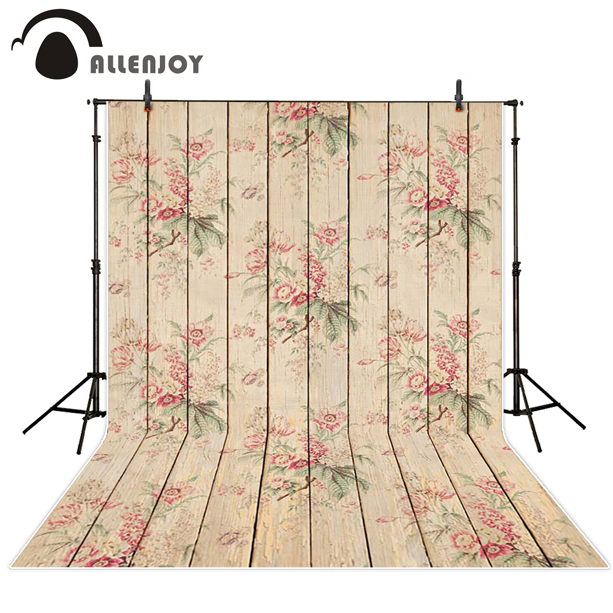Allenjoy wood backdrop Beautiful red printed wood board Background for photo photograph Studio photo backgrounds vinyl cloth