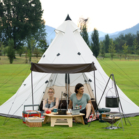 Naturehike Large Camping Tent Waterproof 5 8 People Family Outdoor Picnic Party Tents Equipment Double Layer Pyramid Tent