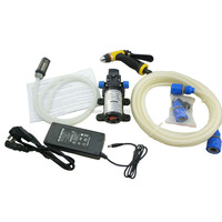 Home electric 80w 12v mini car washer Portable high pressure car wash machine with self priming water pump