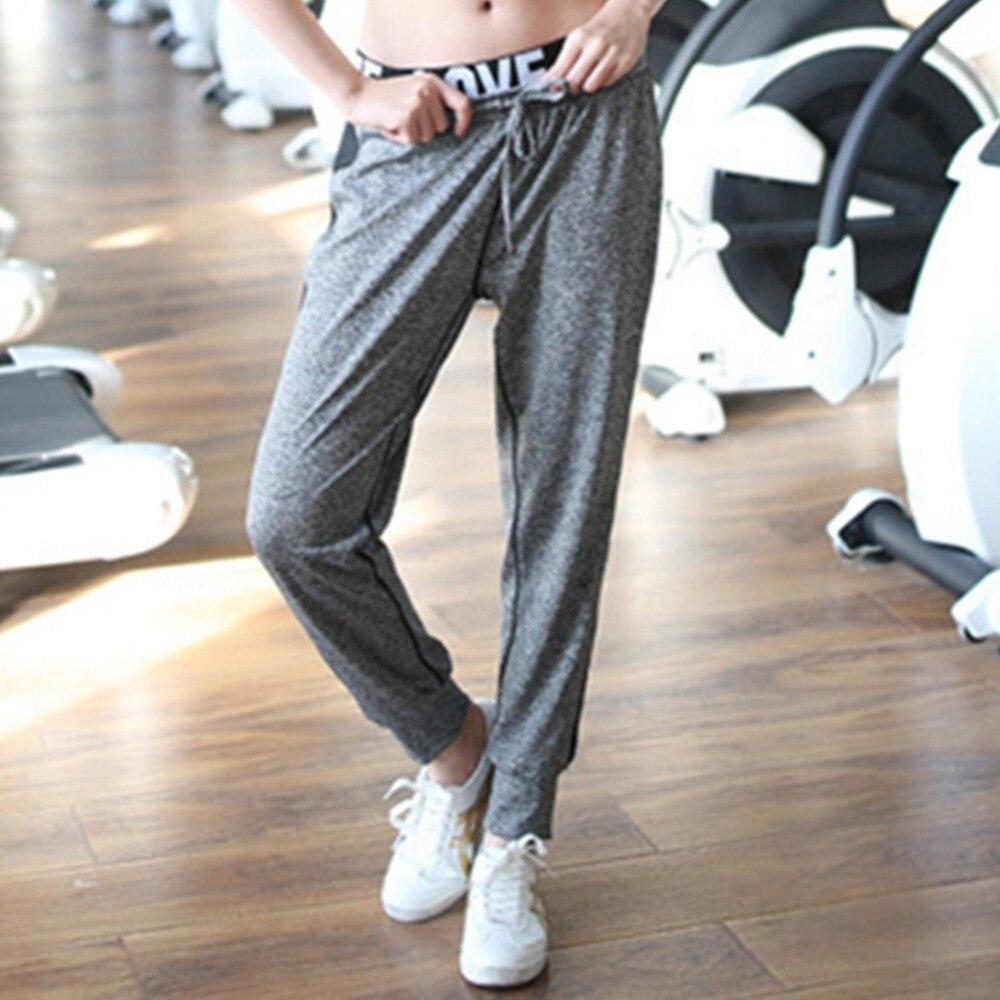 BONJEAN Plus Size Womens Yoga Pants Loose Elastic Dance Fitness Actwear Soft Sport Pants Long Harem Trousers Running Pants