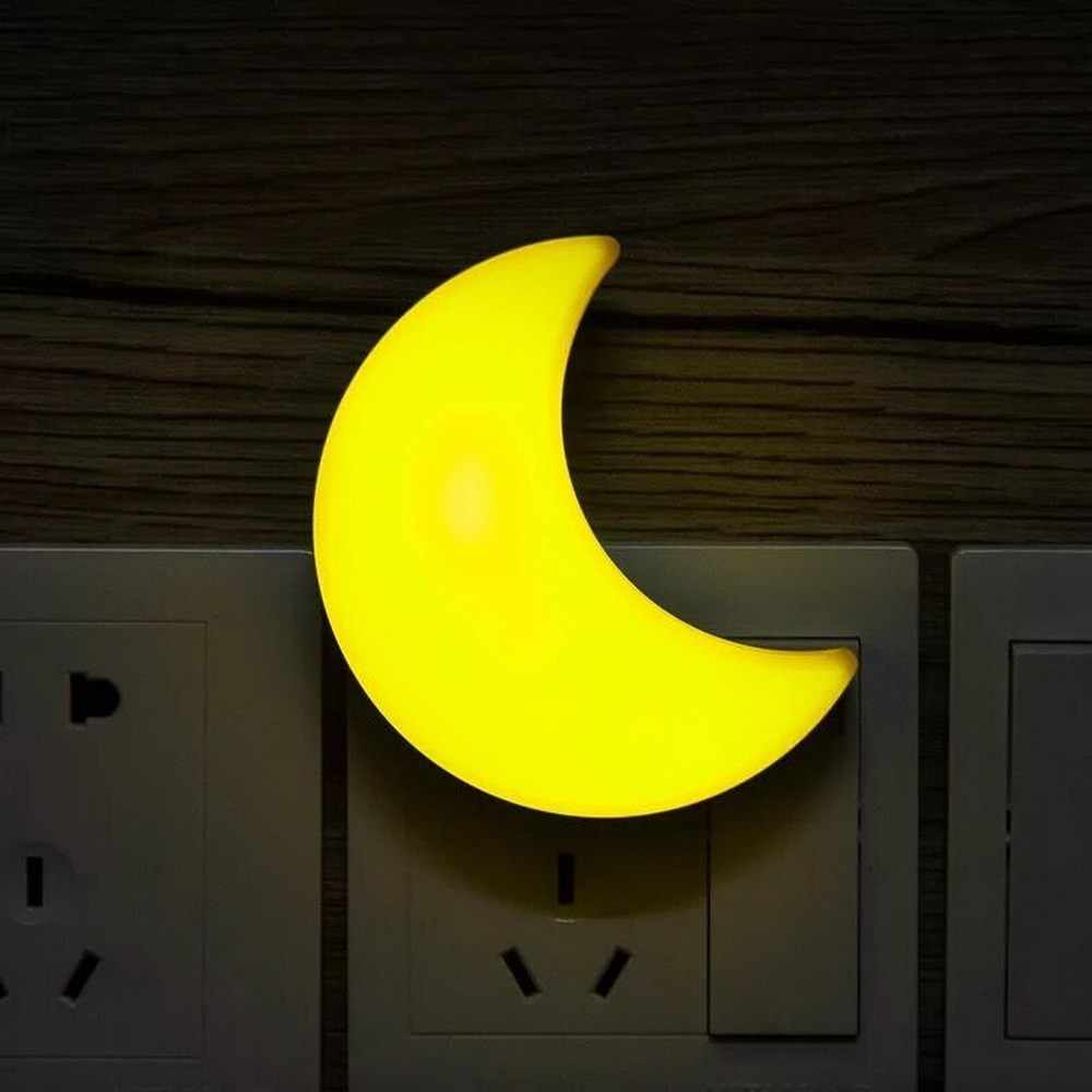 Moon LED night light Auto Light Sensor Control LED Wall Night Lights Child Baby Bedroom bedside Moon lamp bulb EU plug