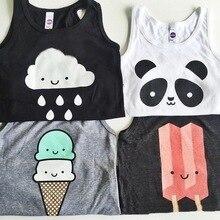 Baby Tops kids vest boys summer T Shirts Girls Tank 2016 fashion Printed Toddler Tees T-shirt dress