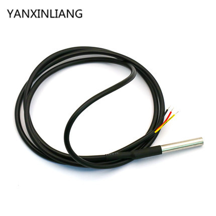 1pcs <font><b>DS18B20</b></font> waterproof 1 meters temperature probe temperature sensor new in stock new image