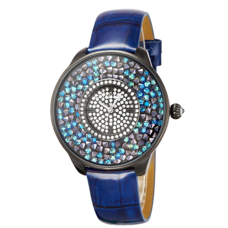 Melissa Lady Women's Watch Japan Quartz Hours Fine Fashion Bracelet Luxury Full Rhinestones Leather Clock Girl Birthday Gift