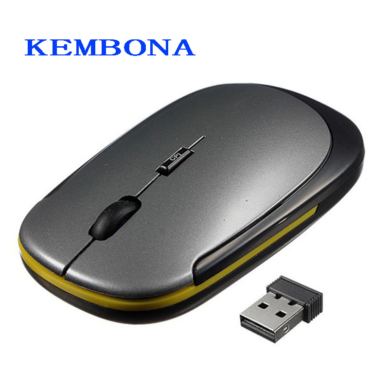 KEMBONA 2.4Ghz Mini Wireless Optical Mouse 2.4GHz USB Receiver Slim Mice 1600 DPI For Mac PC Laptop Computer Mouse