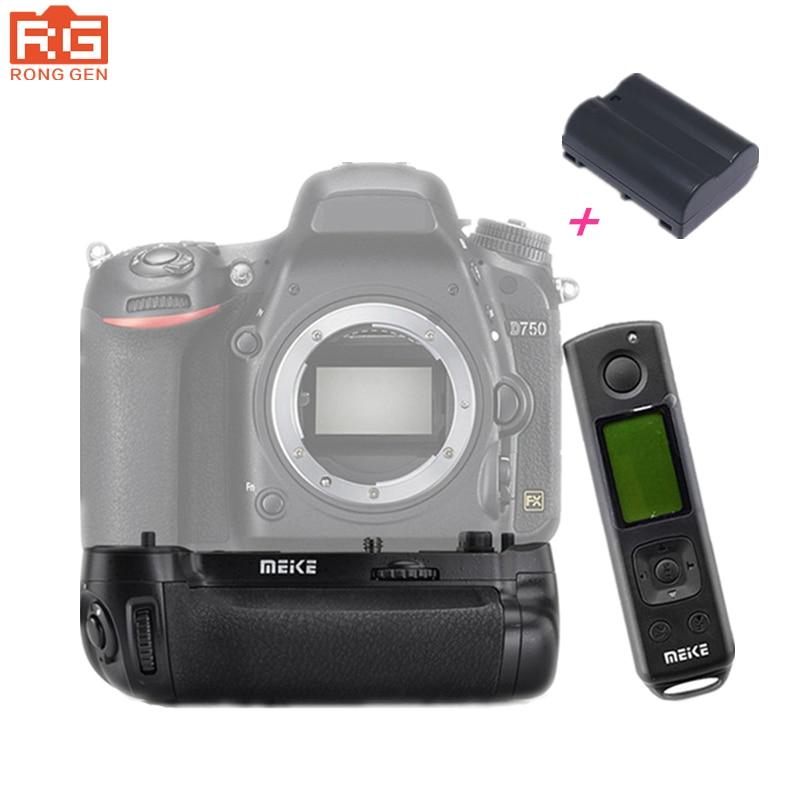 Meike MKDR750 MK-DR750 Built-in 2.4G Wireless Remote Control Vertical Battery Grip Holder for Nikon D750 Lithium Battery EN-EL15