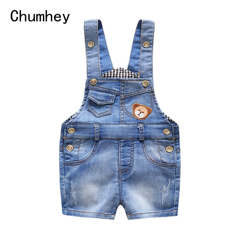 6M 3T Baby Summer Jeans Overalls Infant Shorts Toddlers Kids Denim Rompers Baby Boys Girls Short
