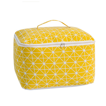 Large Capacity Clothes Storage Box and Folding Quilt Storage Bag with Zipper and Handle