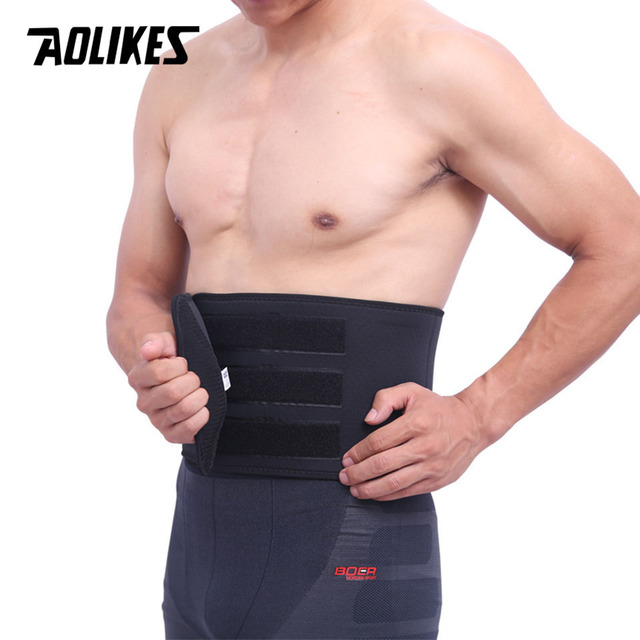 AOLIKES 1PCS Waist Support For Belts Belt Lumbar Brace Breathable Back Therapy Absorb Sweat Fitness Sport Protective Gear