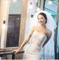 Hot Sale Wedding Accessories Short Simple Wedding Veil White Ivory three Layer Bridal Veil With Comb Cheap Wedding Veil