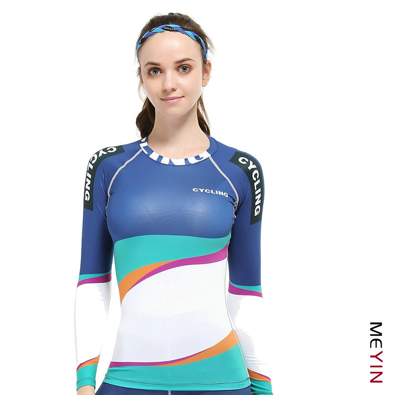 f8a0f52fa Skin Tights Womens Yoga Shirts Breathable Gym Fitness Running Tops Ladies  Breathable Sports Compressed Undershirts Gym Jerseys