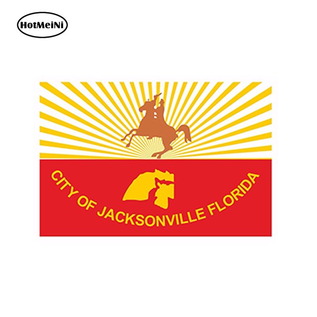 Hotmeini car styling car sticker sticker jacksonville city flag florida for bumper hard hat laptop tablet